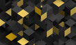 canvas print picture - Abstract 3d render, modern background design with geometric shapes