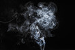 canvas print picture - abstract white smoke isolated on dark background