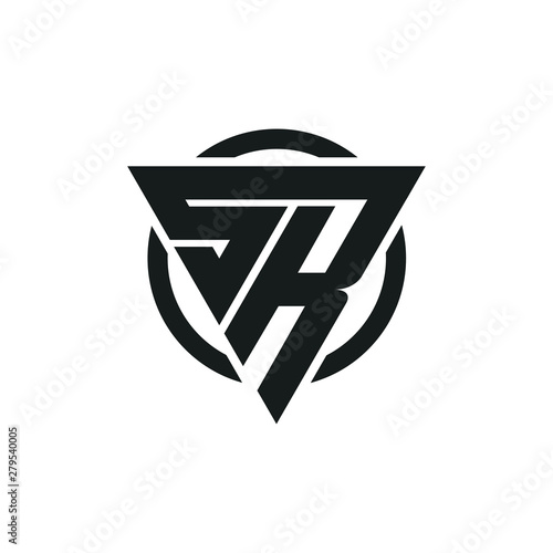 Sr Rs Triangle Logo Circle Monogram Vector Design Super Hero Concept Buy This Stock Vector And Explore Similar Vectors At Adobe Stock Adobe Stock