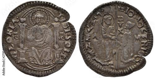 Valokuva  Venice Venetian silver coin grosso 15th century, ruler Doge Tommaso Mocenigo, fi