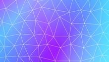 Abstract Polygonal Template. Design For Flyer, Wallpaper, Presentation, Paper. Vector Illustration. Creative Gradient Color.