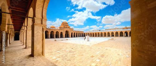 The Great Mosque in Kairouan. Tunisia, North Africa Canvas