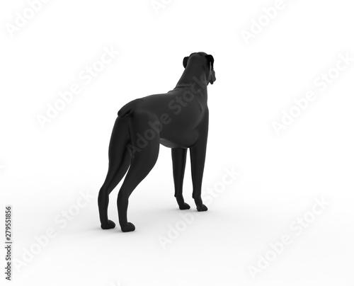 Printed kitchen splashbacks Panther Dog isolated on white background 3D Rendering