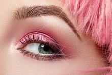 Closeup Macro Of Pink Fashion ...
