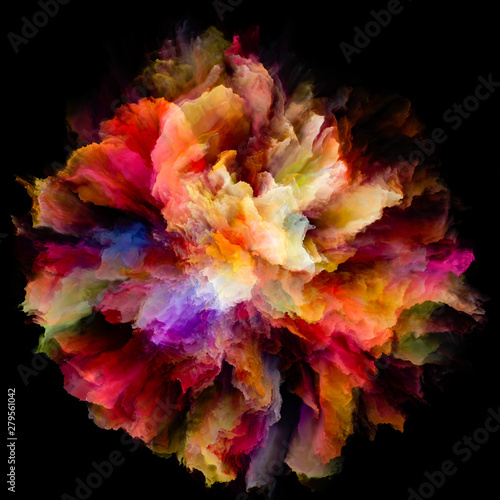 Poster Pierre, Sable Unfolding of Color Splash Explosion
