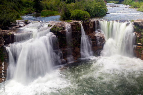 Fototapeten Wasserfalle Lundbreck Falls Crowsnest River Alberta