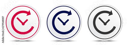 Fotografía  History icon crystal flat round button set illustration design