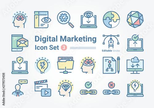 Obraz Digital Marketing icon collection Vol. b3 - fototapety do salonu