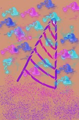 abstract background with arrows and place for text paint color wallpaper unicorn