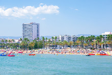 Levante Beach In Salou Medite...