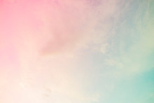 A Soft Cloud Background With A...