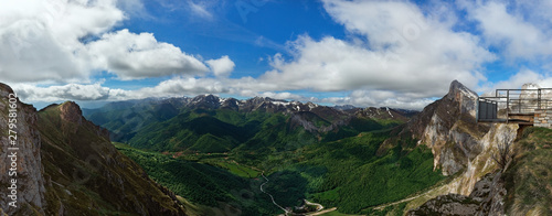beautiful panorama of the Picos de Europa