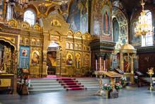 Interior Of St Vitus Cathedral In Prague