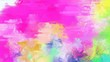 canvas print picture - brush painted background with baby pink, neon fuchsia and thistle color