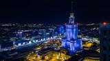 Fototapeta Londyn - Warsaw by night