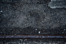 Dark Concrete Texture With Old Rail Road Line Background Graphic Asset.