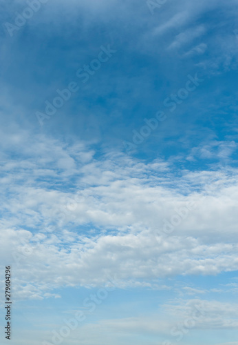 Beautiful spring blue sky with clouds altocumulus in Fuji City, Japan Wallpaper Mural