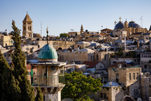 View From The Austrian Pilgrim Hospice Over Old City Of Jerusalem