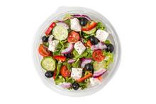 Fresh Greek Salad In A Plastic...