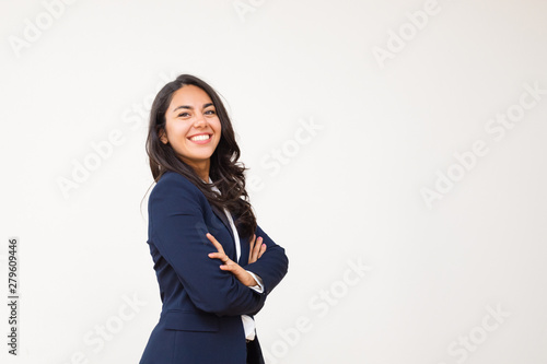 Cuadros en Lienzo Young businesswoman smiling at camera