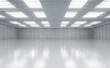 canvas print picture - Interior empty factory