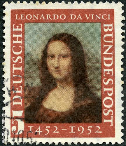 Photo GERMANY - 1952: shows Mona Lisa by Leonardo da Vinci, 500th anniversary of the b