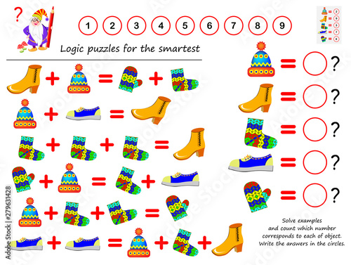 Fotografía  Mathematical logic puzzle game