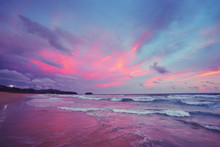 Beautiful Landscape. Sunset On...