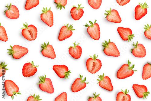 Fotografía  Strawberry seamless slices as pattern
