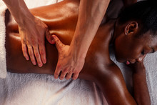 Female Getting Professional Medical Manual Therapy
