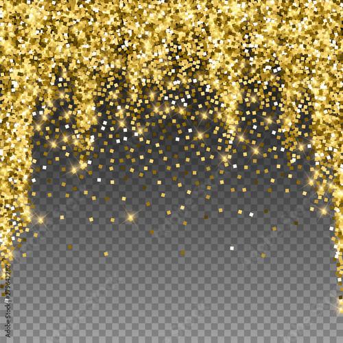 Sparkling gold luxury sparkling confetti. Scattere Fototapete