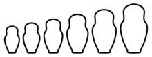 Matryoshka Silhouette Set Icon...