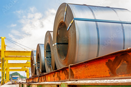Obraz Steel coil transport - fototapety do salonu