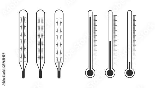 Fotografie, Obraz  Thermometer Icon. EPS 10.