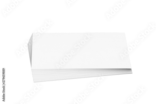 Valokuva  Pile of white blank business cards