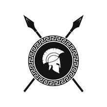 Spartan Shield And Helmet Logo...