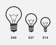 Light Bulb Icon Vector. Llight...