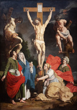 Valenciennes, France. 2017/9/14. The Painting Of The Crucifixion Of Jesus Christ. Currently Displayed In The Museum Of Fine Arts In Valenciennes.