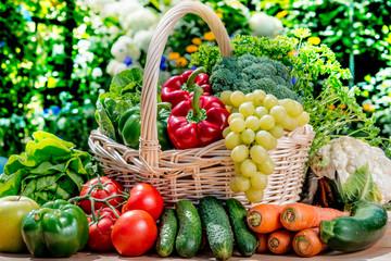 Variety of fresh organic ve...