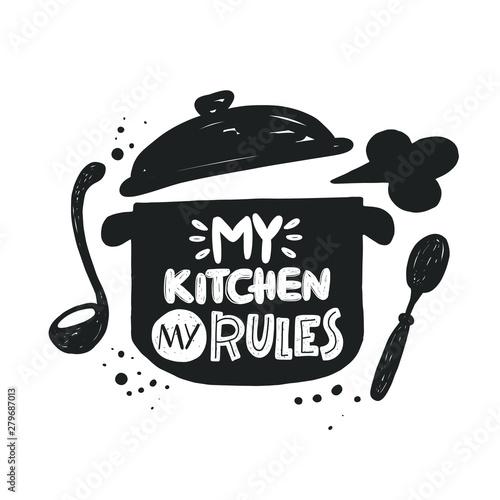 Cuadros en Lienzo My kitchen my rules