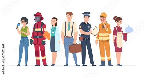 Cuadros en Lienzo Characters professions