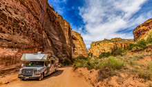 Camper Van On Canyon Scenic Dr...