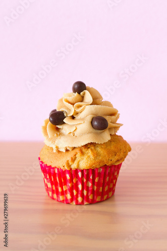 Cupcake with coffee and chocolate Canvas Print