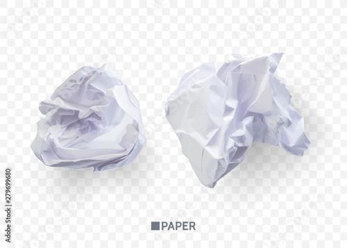 Valokuvatapetti Crumpled paper ball