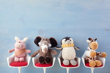 Pediatrician. Toy Animals Sitt...