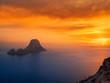 Leinwandbild Motiv Es Vedra islet sunset in Balearic Islands