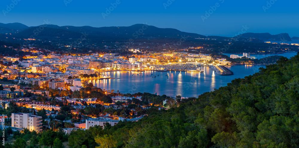 Fototapety, obrazy: Santa Eulalia Eularia des Riu skyline Ibiza