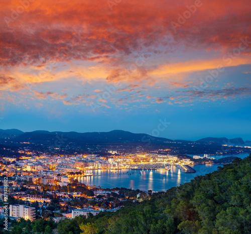 Türaufkleber Rio de Janeiro Santa Eulalia Eularia des Riu skyline Ibiza