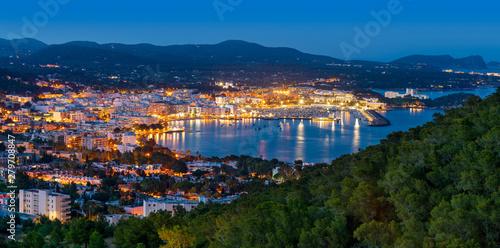 Poster Turquie Santa Eulalia Eularia des Riu skyline Ibiza