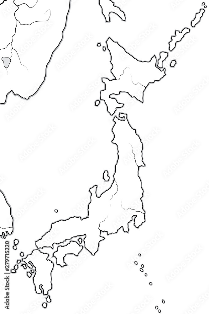 World Map of JAPAN: «Land of the Rising Sun» (endonym ...